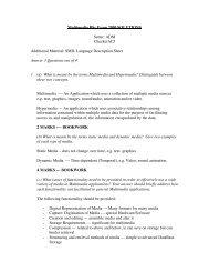 Multimedia BSc Exam 2000 SOLUTIONS Setter: ADM CheckerACJ ...