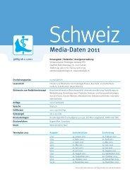 Media-Daten 2011 - Schweizerischer Podologen-Verband SPV