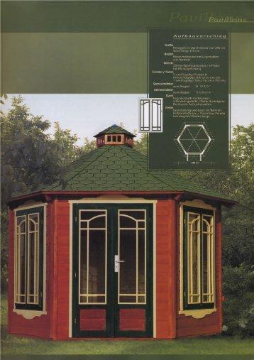 Hexagon im Durchmesser von 340 cm - Taylors Garden Buildings