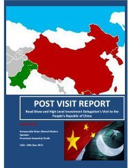 POST VISIT REPORT - Sindh Board Of Investment, Government Of ...