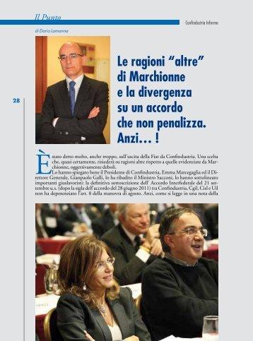 """Le ragioni """"altre"""" di Marchionne e la divergenza su un accordo che ..."""