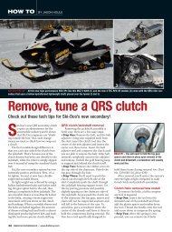 How to remove & tune the Ski-Doo QRS clutch - Straightline ...