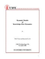 Dynamic Models of Knowledge-Flow Dynamics - CiteSeerX