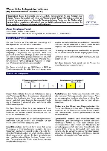 KIID 30.01.2013 - Crystal Fund Management AG