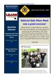 March - National Safe Place