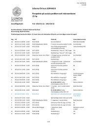 SOPA43:B Perspektiv på sociala problem och interventioner, 15 hp