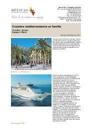 Croisière méditerranéenne en famille - Arts et Vie