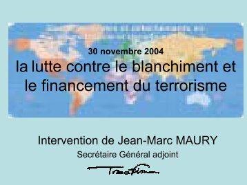 Consultez la présentation de Jean-Marc Maury (format PDF 114 ko)