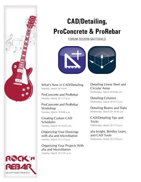 CAD Detailing ProConcrete ProRebar