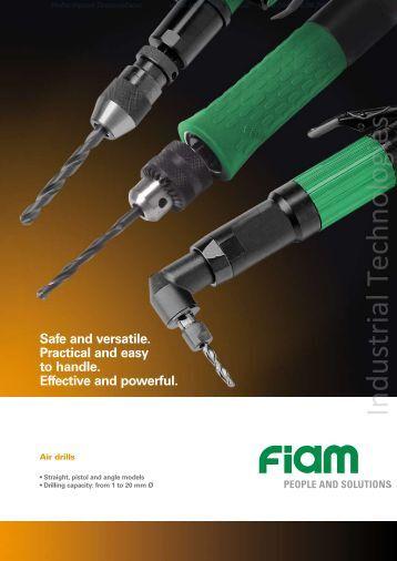 Air drills FIAM Utensili Pneumatici Spa - Industrial Technologies