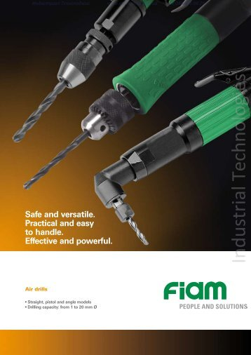 Air drills FIAM Utensili Pneumatici Spa - Industrial Technologies