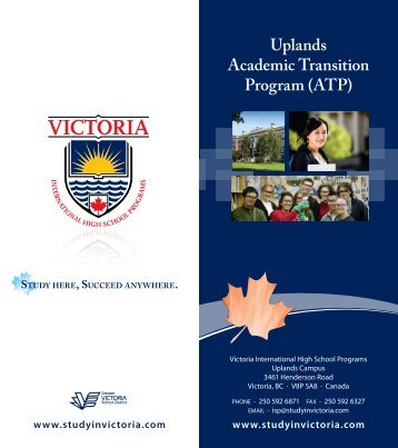 Uplands Academic Transition Program (ATP) - Victoria International ...