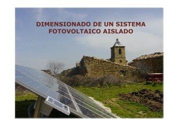 dimensionado de un sistema fotovoltaico aislado - Tech4CDM