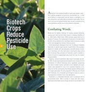 Biotech Crops Reduce Pesticide Use - Conservation Technology ...