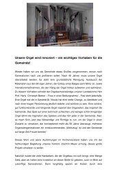 Unsere Orgel wird renoviert – ein wichtiges ... - st.nicolai sarstedt