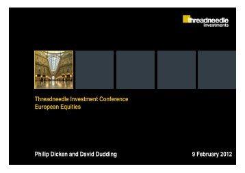 Threadneedle European funds - Threadneedle Investments
