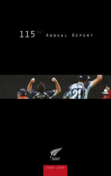 New Zealand Cricket Annual Report 2008 - 2009