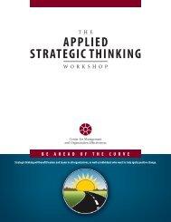 Applied Strategic Thinking - MBAA