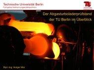 Überlick ATL-Prüfstand (PDF, 1,2 MB) - Fachgebiet VKM - TU Berlin