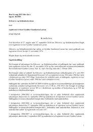 1 Den 16. maj 2011 blev der i sag nr. 46/2010 ... - Revisornævnet