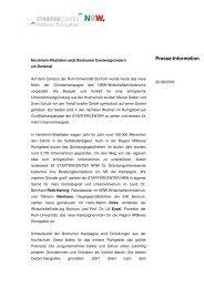 Presse-Information - Startercenter NRW
