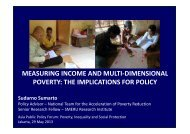 MEASURING INCOME AND MULTI-DIMENSIONAL POVERTY: THE ...