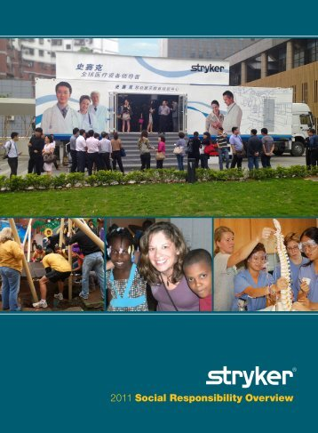 2011 Social Responsibility Overview - Stryker
