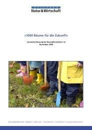 «1000 Bäume für die Zukunft» - Natur & Wirtschaft
