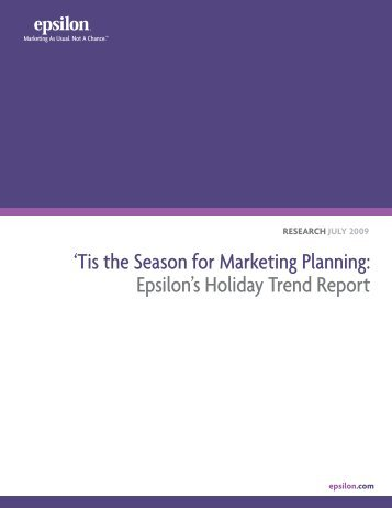 Holiday Trend Report - Epsilon