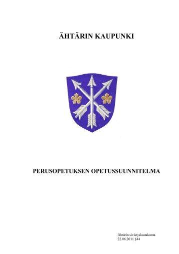 1. luku Opetussuunnitelma - Ähtäri