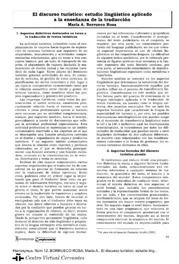El discurso turístico - Centro Virtual Cervantes