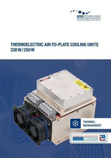 thermoelectric air-to-Plate cooling units 330 W / 250 W - AMS ...