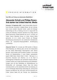 Alexander Schott und Philipp Rosen- thal starten bei United Internet ...