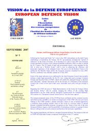N°7 Septembre 2007 - IHEDN
