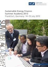 Sustainable Energy Finance Summer Academy - Frankfurt School of ...
