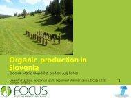 Organic production in Sl i Slovenia - Focus-Balkans