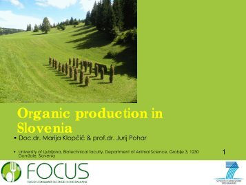Organic production in Sl i Slovenia - Focus-Balkans