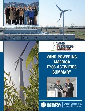 Wind Powering America FY08 Activities Summary (Book)