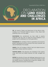 declaration on land issues and challenges in africa - United Nations ...