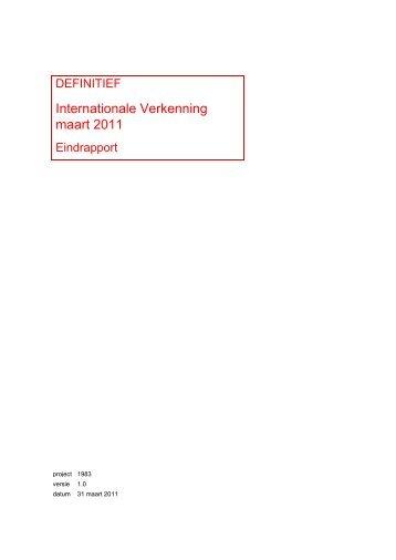 Internationale Verkenning maart 2011 - Forum Standaardisatie
