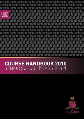 Course Handbook_Yr10-12.pdf - What's On at Hutchins...