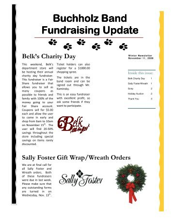 Fundraising Newsletter - Winter Edition