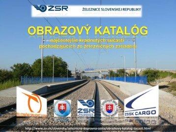 OBRAZOVÝ KATALÓG súčasti pochádzajúcich zo železničných - ŽSR