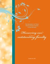 Honoring our outstanding faculty - The University of Texas Health ...