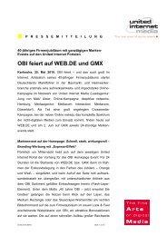 OBI feiert auf WEB.DE und GMX