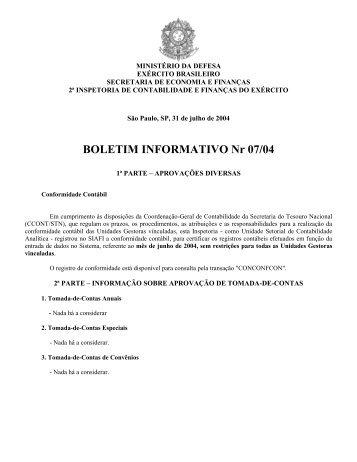 31 Jul 04 - 2ª ICFEx - Exército Brasileiro