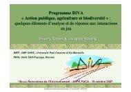 Programme DIVA « Action publique, agriculture et biodiversité ... - Inra