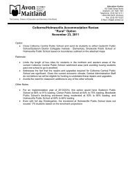 Rural Option Proposal - Avon Maitland District School Board
