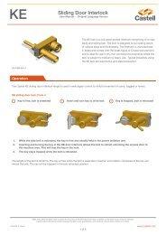 Sliding Door Interlock - Castell