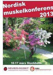Nordisk muskelkonferens 2013 - RBU